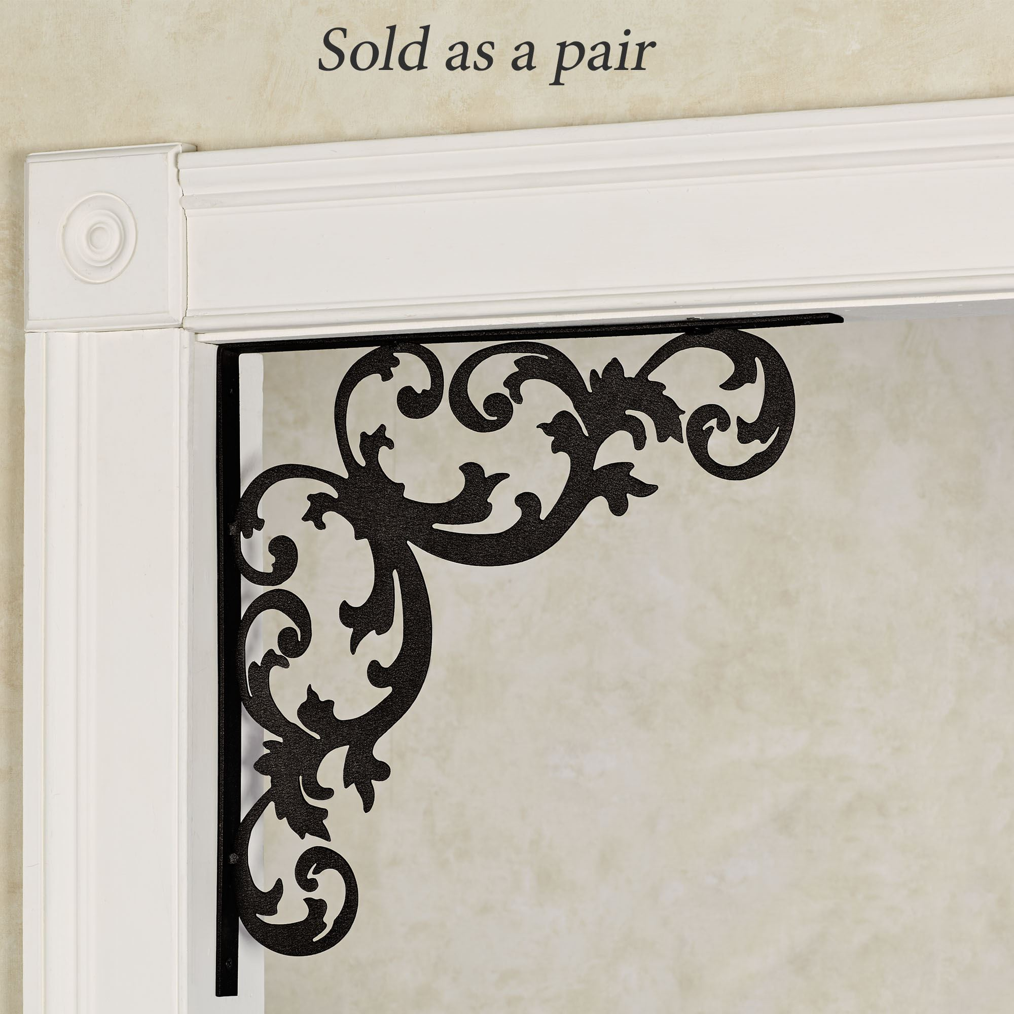 Hanover Black Corner Door Brackets