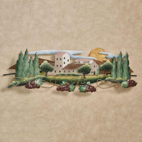 Tuscan Vineyard Metal Wall Sculpture