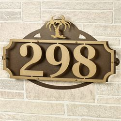 La Casa Palm Tree Address Wall Sign