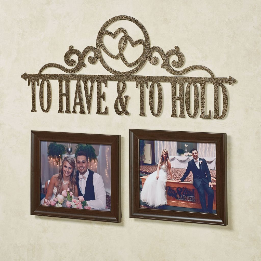 Occasions Hearts Personalized Metal Wall Art Sign