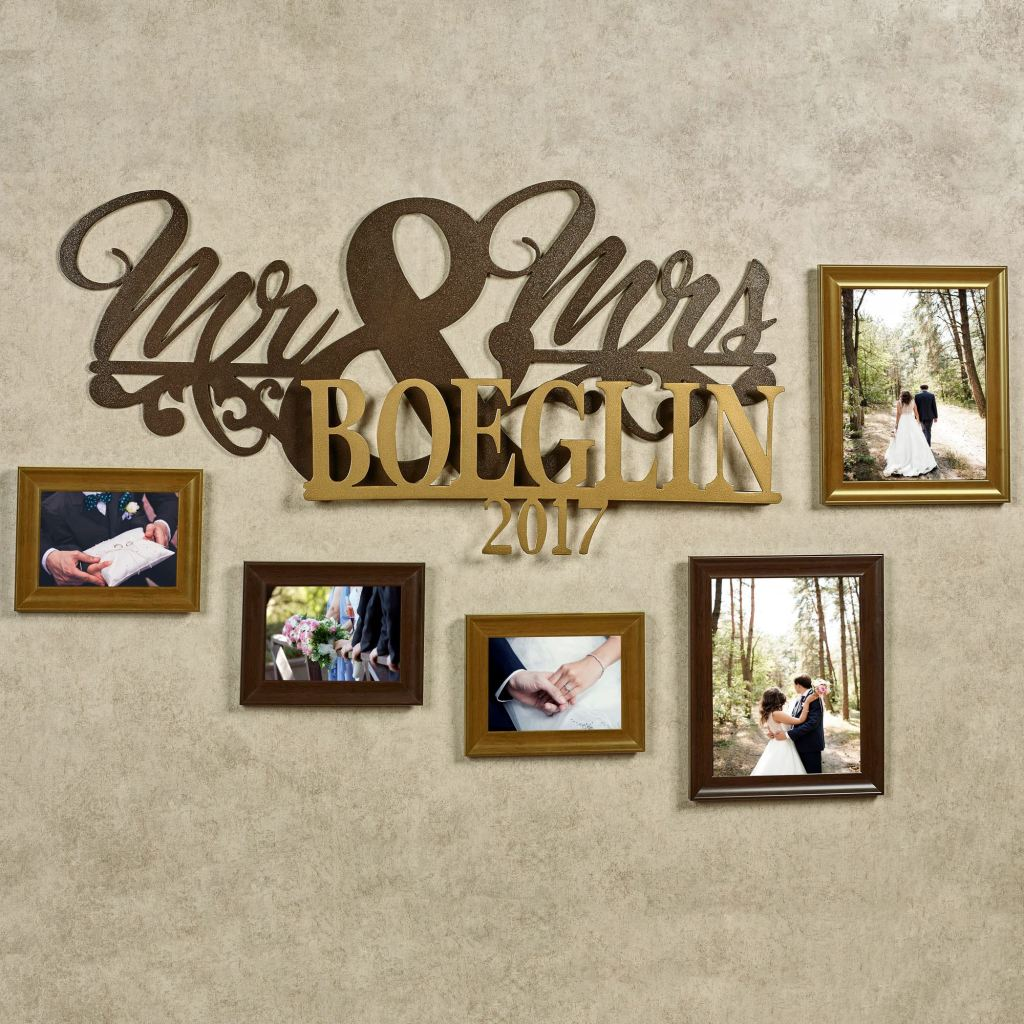 Mr and Mrs Marriage Personalized Wall Art Sign